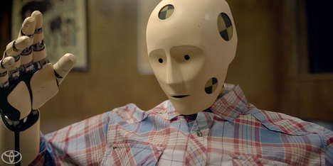 Anthropomorphic Dummy Auto-Safety Ads - The Toyota Safety Sense Commercial Features a Talking Dummy