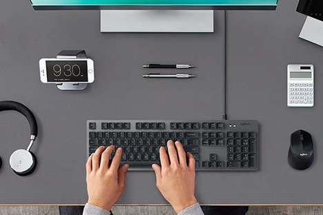 Tactile Feedback Keyboards - The Logitech K840 Mechanical Computer Keyboards are Responsive