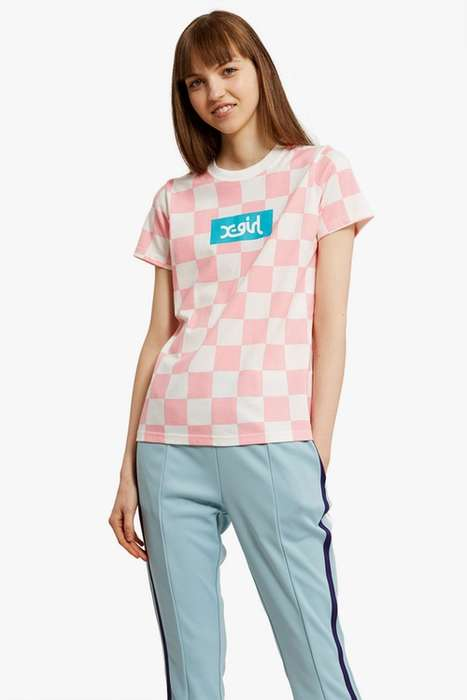 Racer-Inspired Pastel Checker Tees - This New X-Girl Shirt is an Exclusive Summer Release
