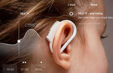 Fever-Tracking Thermometers - The 'Degree' Temperature Thermometer is Worn on the Ear for Monitoring