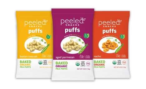 Organic Pea Baked Snacks