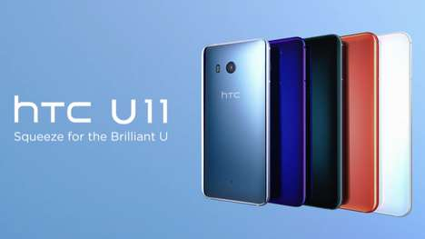 Squeezable Shortcut Smartphones - The HTC U11 Smartphone Boasts a Squeezable Chassis