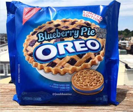 Exclusive Pie-Flavored Cookies - Oreo is Releasing a Limited Edition Blueberry Pie-Flavored Cookie