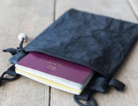 Document Protection Travel Pouches - The SDR Double Passport Pouch Keeps Two Passports Safe Within