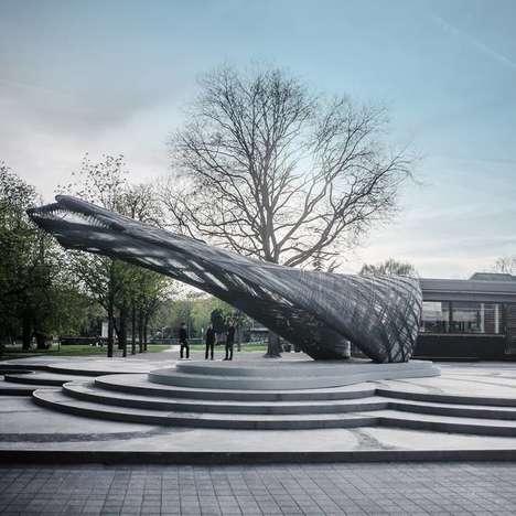 Drone-Built Pavilions