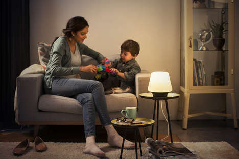 Temperature-Changing Smart Lamps - Phillips Hues' Smart Lamps Designs Focus on Well-Being at Home