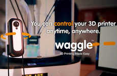 3D Printer-Monitoring Cameras - The 'Waggle' 3D Printer Camera Monitors Print Jobs From Anywhere