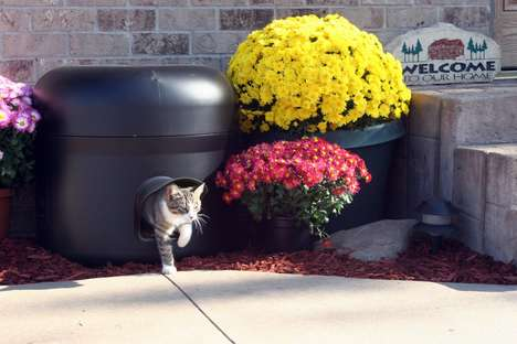 Insulated Cat Habitats - The Kitty Tube is an Outdoor Cat House that Repels Water