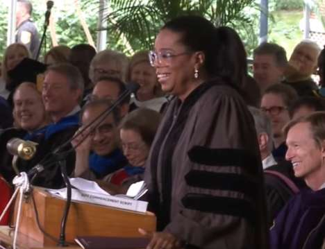 A Life of Service - Oprah Winfrey's Commencement Speech Emphasizes Being True to Yourself