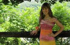 Novelty Candy Wrapper Dresses - This Woman Made a Dress Using 10,000 Starburst Wrappers