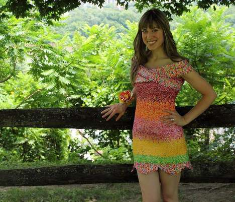 Novelty Candy Wrapper Dresses