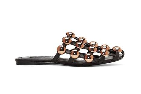 Luxurious Dome-Studded Sandals