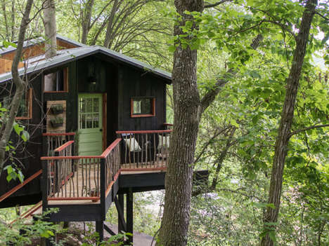 Rustic Treehouse Spas - The 'Dove Men+Care Treehouse' Promotes Self-Care for Men