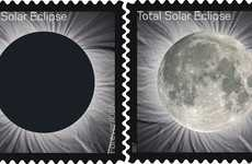 Interactive Eclipse Stamps - These Special USPS Stamps Change to Reveal the Moon When Touched