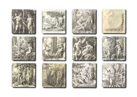 Biblical Condom Wrappers - 'Eden Condoms' Feature Iconic Images of Adam and Eve On the Packaging