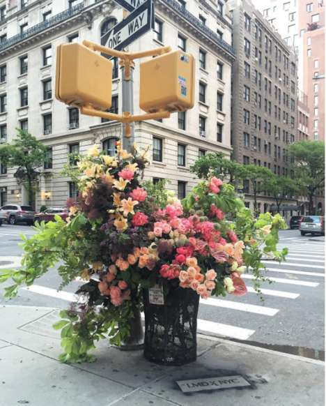 Sculputural Floral Bouquets - This Floral Designers 'Surprise Bouquets' are Beautifying NYC Streets