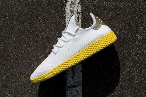 Vivid Sunshine-Hued Sneakers - Pharrell Helped to Design Another Version of the Originals Hu Tennis