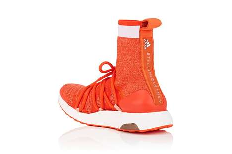 Highlighter Orange Sock-Like Sneakers