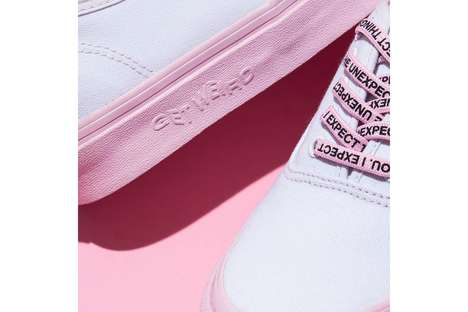 Co-Branded Pastel Tennis Sneakers