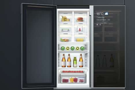 Compartmentalized Communal Fridges - The Staff Ice Bar Refrigerator Keeps Meals Tidy and Fresh