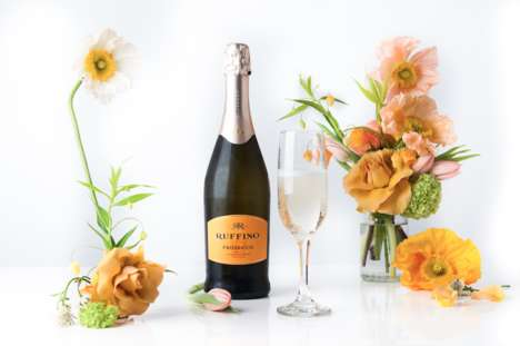 Blooming Beverage Pairings - Curated Combos of Wine and Flowers are Fresh Ways to Serve Spring Meals