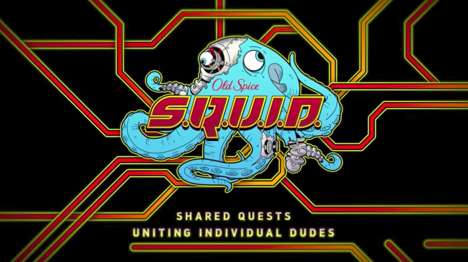 Collaborative Cephalopod Games - Old Spice Launched 'S.Q.U.I.D.' to Promote Its Krakengard Scent