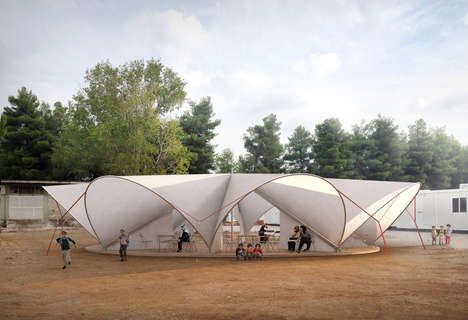 Socially Focused Refugee Tents - Maidan Tent Aims to Offer a Social Hub in Refugee Villages