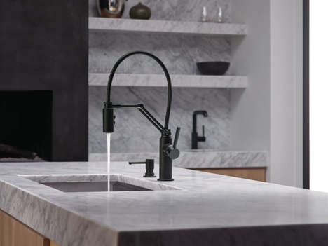 Lamp-Inspired Taps - This Dynamic Faucet Takes Comprises a Jointed Arm for Convenient Flexibility