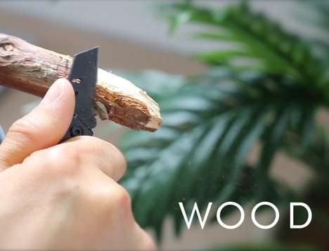 Ultra-Thin Utility Knives - The Incredibly Compact Bomber B-2 Nano Blade Takes on Any Task