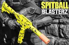 Paper Ammo Toy Guns - The 'Spitball Blasterz' Shoots Tissue Paper Ammo You Make Yourself