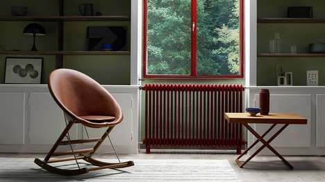 Foldable Minimalist Rocking Chairs - Anker Bak's Rocking Chair is Released Through Carl Hansen & Son
