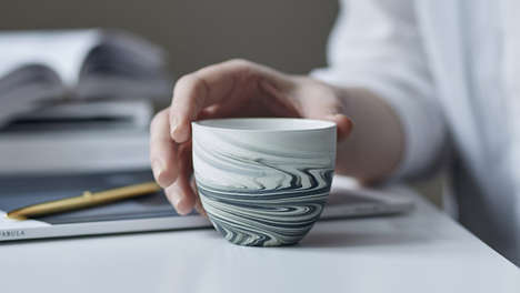 Marbled Espresso Cups
