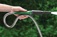Unbreakable Garden Hoses - The Indestructible Steel Garden Hose Can be Kept Outside Year-Round