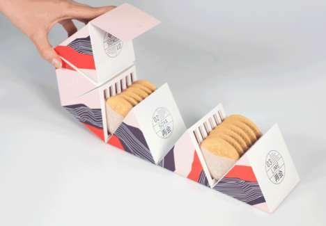 Hexagonal Cookie Packaging Concepts