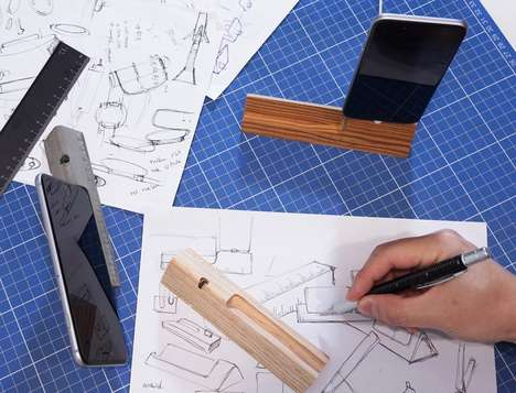 Ruler Smartphone Docks - The 'RulerDock' iPhone Dock Stand Incorporates Your Phone onto a Desk