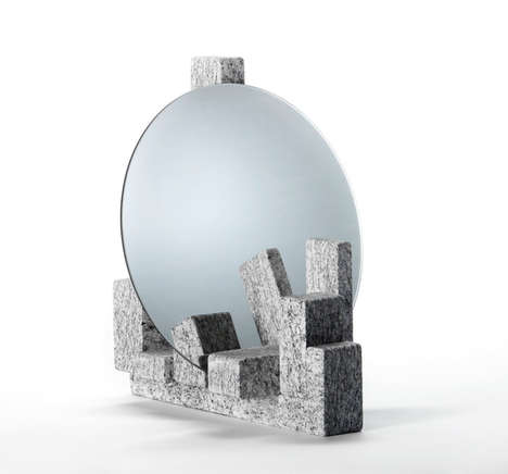 Minimalist Concrete Mirrors - Clique Editions Debuts a Collection of Minimalist Concrete Mirrors