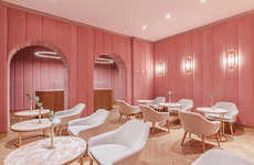 Millennial Pink Pastry Shops - This Retro-Inspired Patisserie in Poland is Covered in Pink Velvet