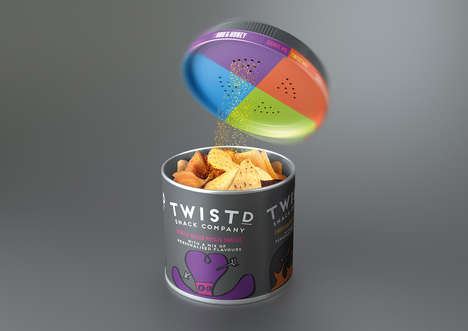 Chip-Seasoning Containers - Twistd's Seasoned Potato Chips Encourage Mixing and Matching Flavors