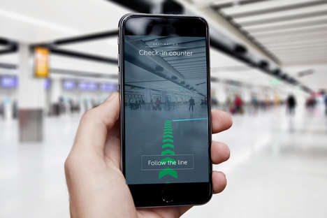 AR Airport Maps - Gatwick Airport is Helping Travelers Get Around with Beacons and Augmented Reality