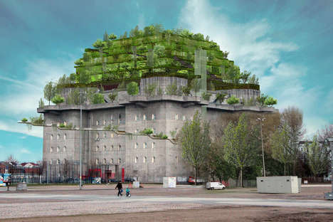 Artificial Green Mountains - 'Hilldegarden' Will Repurpose an Antiquated War Bunker in Hamburg