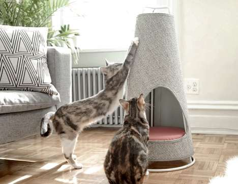 Heavy-Duty Scratching Posts - The Cone By Wiski Is a Durable, and Elegant Scratching Post for Cats