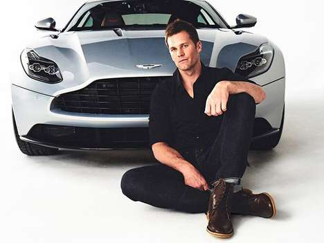 Luxury Automaker Athlete Ads - Tom Brady and Aston Martin Have Teamed Up for a New Campaign