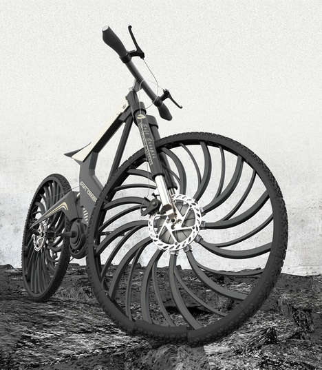 Shock-Absorbing Bike Tires - The 'Soft Creeper' Conceptual Bike Tires Bend Rather Than Blow Out