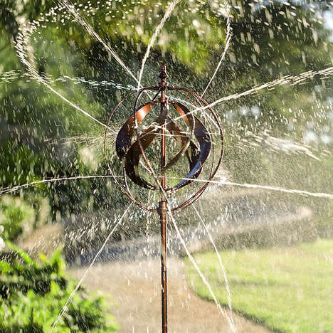 Sculptural Garden Water Sprinklers - The 'Hydro-Ball' Sprinkler Works with Water or the Wind