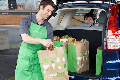 Drive-Through Grocers - AmazonFresh Pickup is Opening Its First Location in Seattle