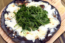 Charcoal Pizza Crusts - This Restaurant Pizza Crust Boasts Activated Charcoal as a Main Ingredient