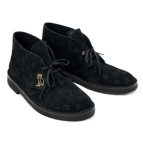 Rapper-Revitalized Suede Boots - These Classic Clarks Boots Were Adapted with Drake's OVO Branding