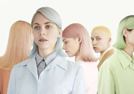 At-Home Pastel Hair Dyes - 'Moody Girls' is a Range of Pastel-Hued Hair Dye for Lighter Hair Colors