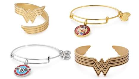 Heroic Jewelry Sets - Alex and Ani's Wonder Woman Jewelry Celebrates the Super Heroine's New Film