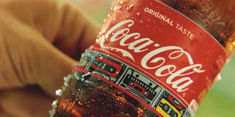Beverage Bottle Wristbands - Coca-Cola's Festival Bottle Features a Label with a Detachable Band